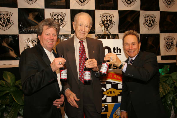 (l-r) John Force, Wally Parks and Kenny Bernstein celebrate their nominations for 'Newsmaker of the Half-Century'