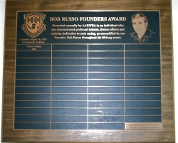 Bob Russo Award Plaque